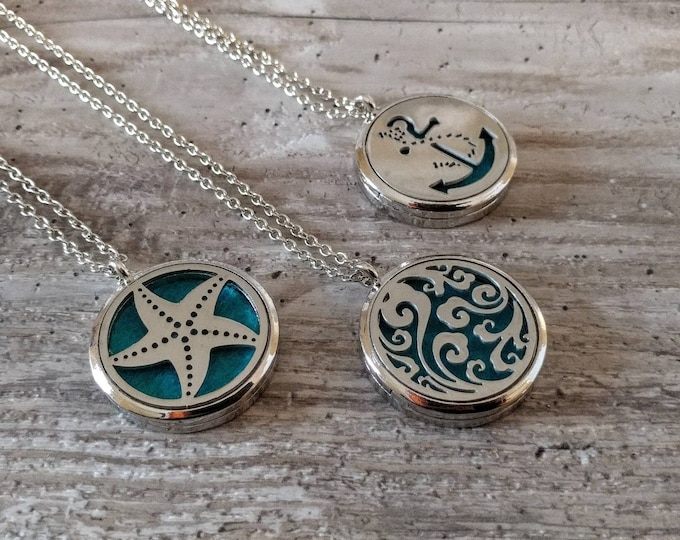 Nautical Aromatherapy Locket, AL-N- Please call for wholesale pricing