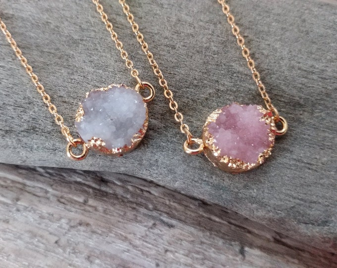 Gold Druzy Choker, GDN-2- Please call for wholesale pricing