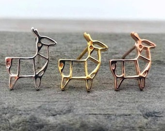Adorable Llama Studs, Mama Llama Stud Earrings, Available in Gold, Silver or Rose Gold
