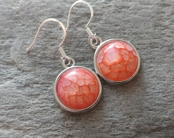 Crackle Earrings, 10 Color Options, 12  Settings Available