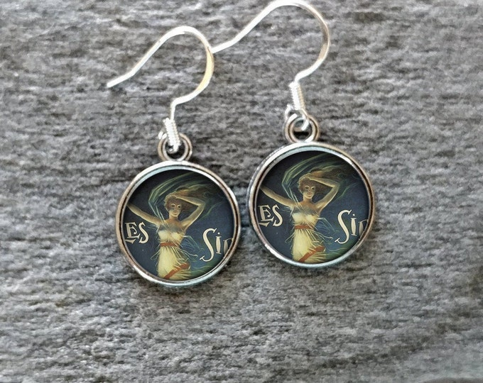 Vintage Whatnots Earrings, Handmade, Multiple Images, 12  Settings Available, VWN-E-Please call for wholesale prices
