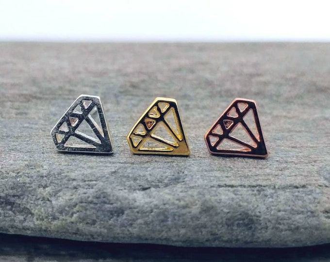 Origami Diamond Studs, STUD-5-Please call for wholesale pricing