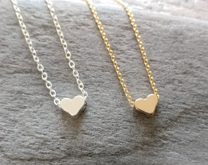 Tiny Heart Necklace, MOQ 3