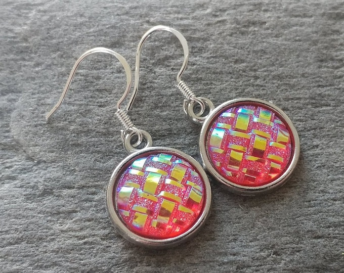 Shimmer Weave Earrings, 6 Color Options, 12  Settings Available, SW-E-Please call for wholesale prices