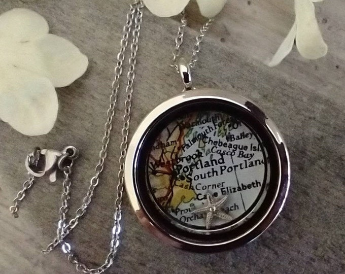 Custom Locket, Customize with A Map, Word Or Photo, Listing Price reflects MSRP