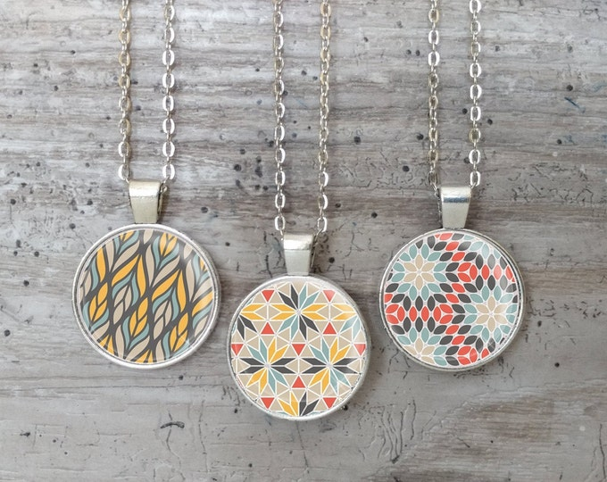 Geo Necklace, Silver or Bronze, GEO-N- Please call for wholesale prices