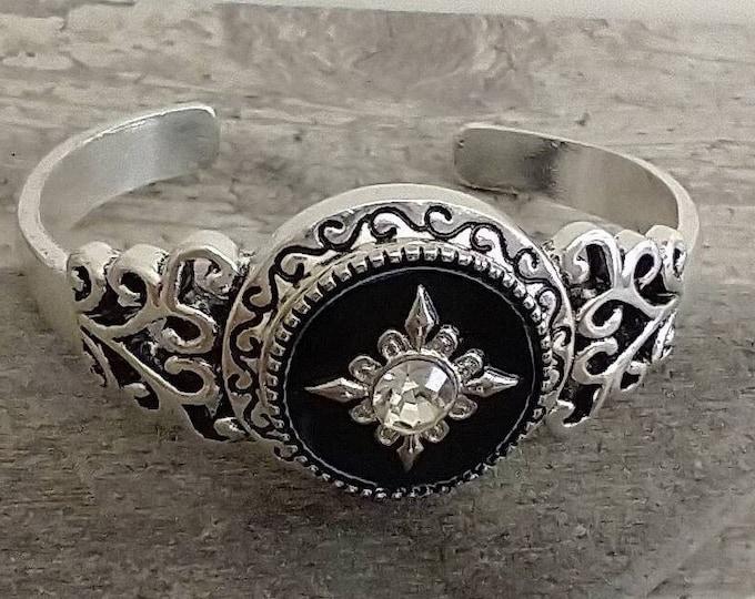 Diamond Compass Snap Bracelet,  Price Reflects MSRP, SB-36