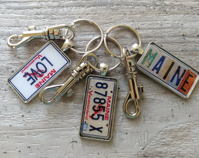 Medium Plate Key Chain, MOQ 3, Swivel or Carabiner, PKC-2- Please call for wholesale prices