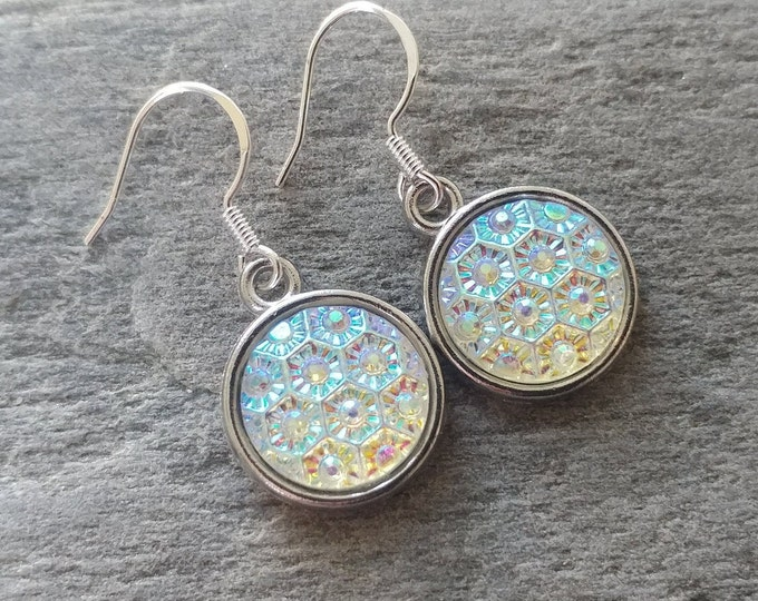 Multi Faceted Earrings, Handmade, 12  Settings Available, MF-E-Please call for wholesale prices