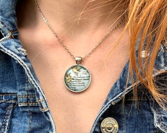 Custom Vintage Map Necklace, Sentimental Necklace, Custom Jewelry, Custom Necklace, Travel Jewelry, Couples Necklace