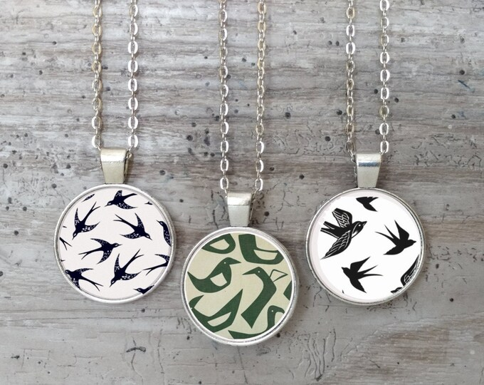Abstract Bird Necklace, Silver or Bronze, AB-N- Please call for wholesale prices