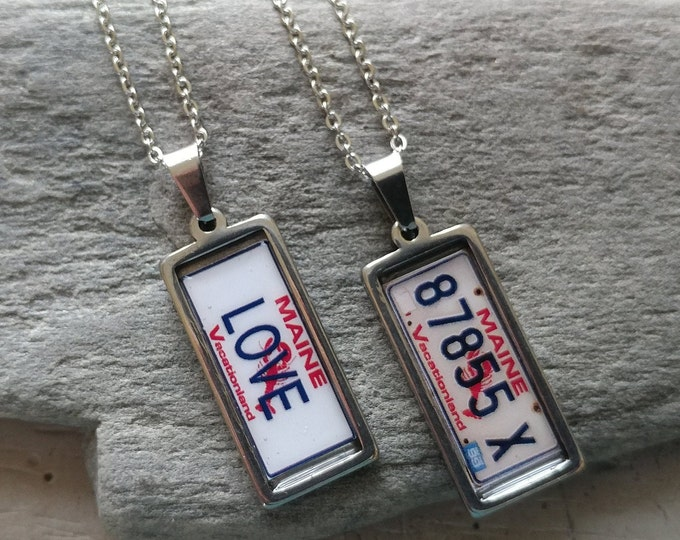 Custom Plate Necklace #3, Staineless Steel, PN-3- Please call for wholesale pricing