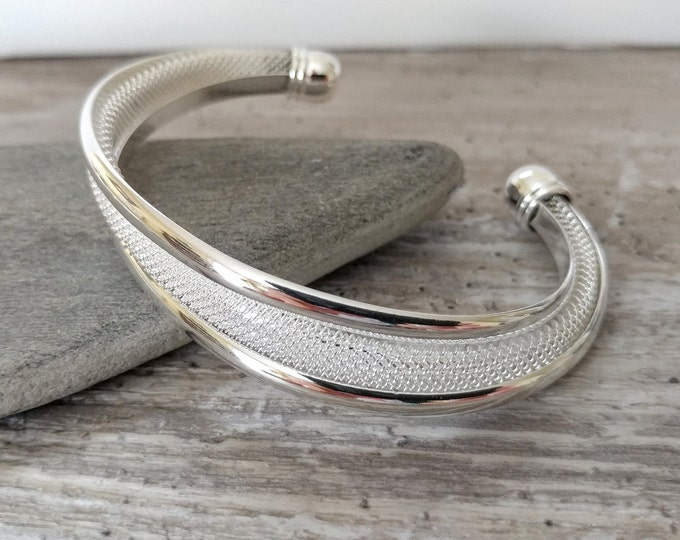 OffSet Silver Cuff, TB-14- Please call for wholesale prices