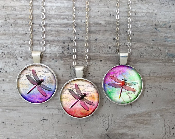 Kid's Dragonfly Necklace, Silver or Bronze, DF-N- Please call for wholesale prices