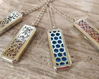 Essential Oil Locket, Aromatherapy Necklace, List Prices reflect MSRP