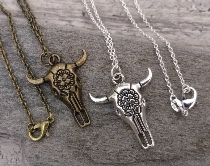 Cow Skull Necklace, List Prices reflect MSRP