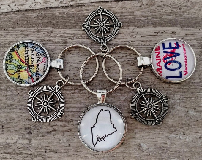 Custom Compass Key Chain # 1, MOQ 5, CKC-4- Please call for wholesale prices