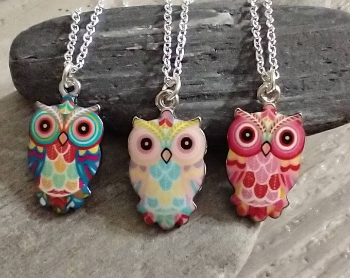 Adorable Owl Necklace, List Prices reflect MSRP
