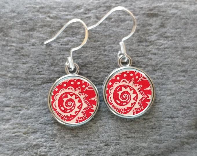 Nautical Bandana Earrings, Handmade, Multiple Images, 12  Settings Available, BAND-E-Please call for wholesale prices