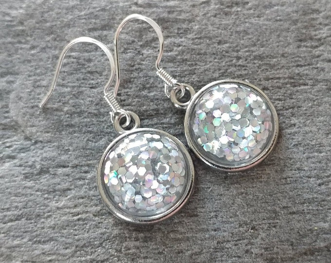 Glitter Earrings, 3 Color Options, 12  Settings Available, GL-E-Please call for wholesale prices