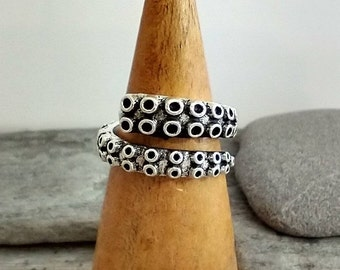 Chunky Silver Tentacle Ring, List Prices reflect MSRP, MR-OCTO-C