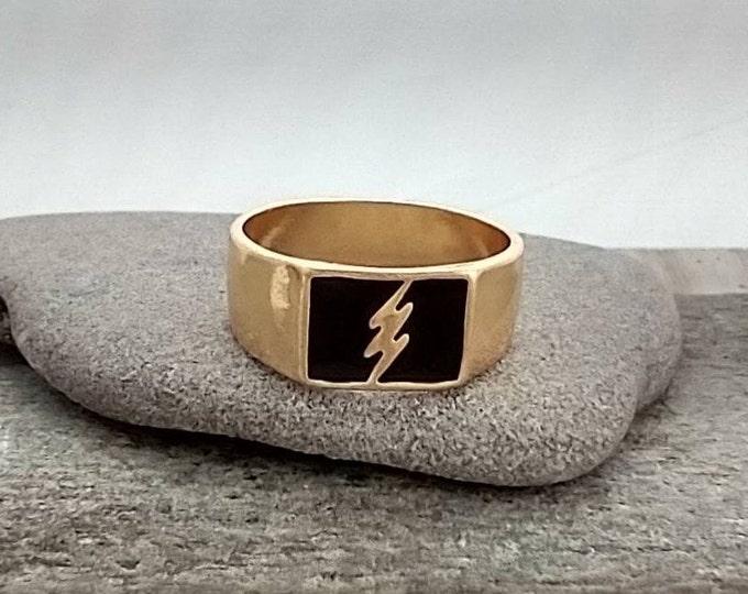 Men's Black Lightning Ring, List Prices reflect MSRP, MR-N32