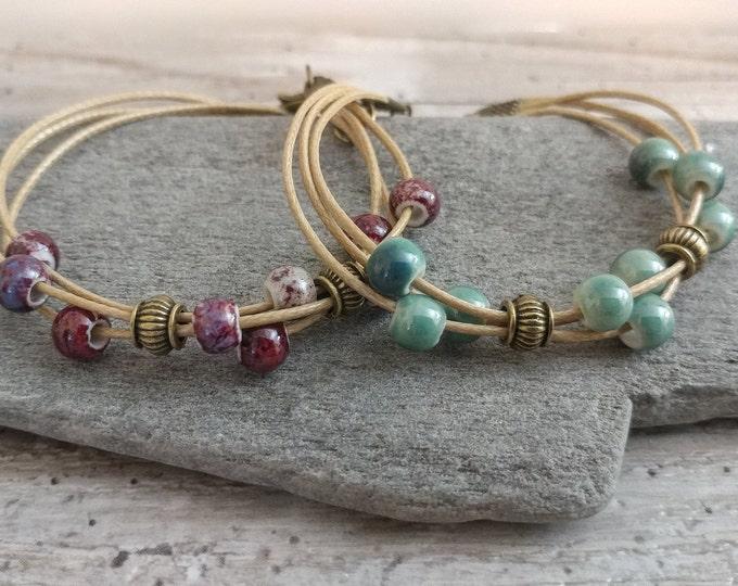 Set of 2 Hemp Layer Bracelets, BEADB-1- Please call for wholesale pricing