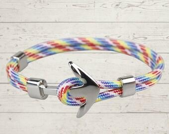 Nautical Anchor Bracelet- 12 Colors Available