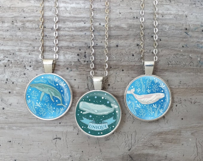 Kid's Whale Necklace, Silver or Bronze, KW-N- Please call for wholesale prices