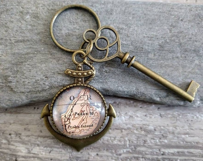 Anchor Key Chain, Map, Image, Word, Logo