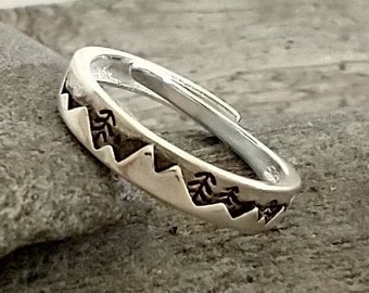 Delicate Silver Mountain Ring, List Prices reflect MSRP, MR-2021-20