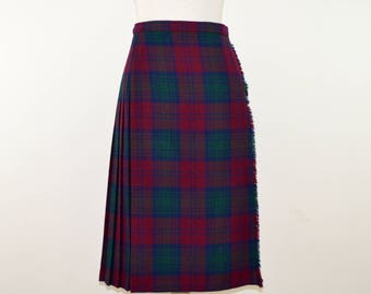 Genuine Scottish Kilt | Traditional Scottish Women's Kilt | Vintage Tartan Kilt | Authentic Scottish Wool Kilt | Ladies Vintage Tartan Skirt