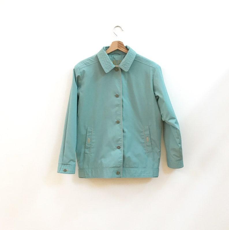 Pale Blue Jacket 90s Vintage Jacket Vintage Bomber Jacket Vintage Summer Jacket Duck Egg Blue Blouson Jacket
