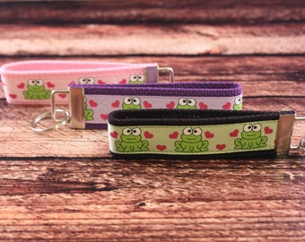 Frog with Hearts Key Fob