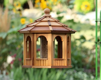 Cedar Bird Feeder Gazebo - 8 sided Octagon 16""
