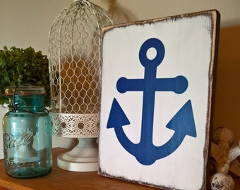 coastal decor - anchor decor - coastal home decor - baby boy nursery decor - bathroom decor - nautical nursery - nautical decor