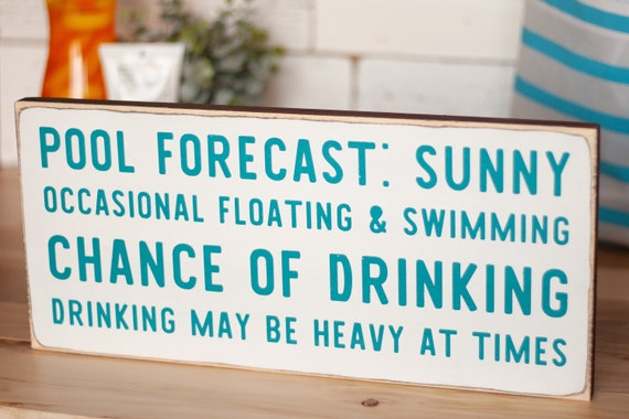 Pool house sign - swimming pool - pool signs - pool party - drinking  buddies - housewarming gift - gifts for friends - swimming pool signs