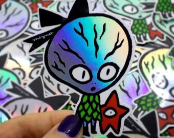 Mizna x Stickerapp ALIEN holographic stickers