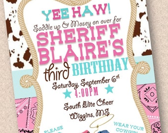 Sheriff callie invitation Etsy