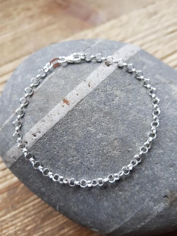 1b88952a679d Sterling Silver Charm Bracelet Silver Bracelet Bracelet for