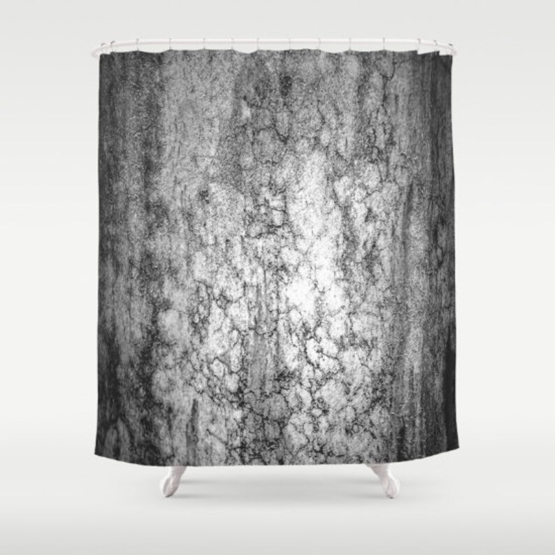 Marble Shower Curtain Grey Texture