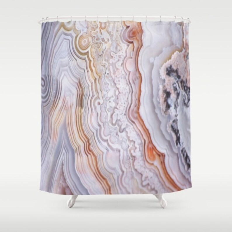 Agate Shower Curtain Mineral Texture