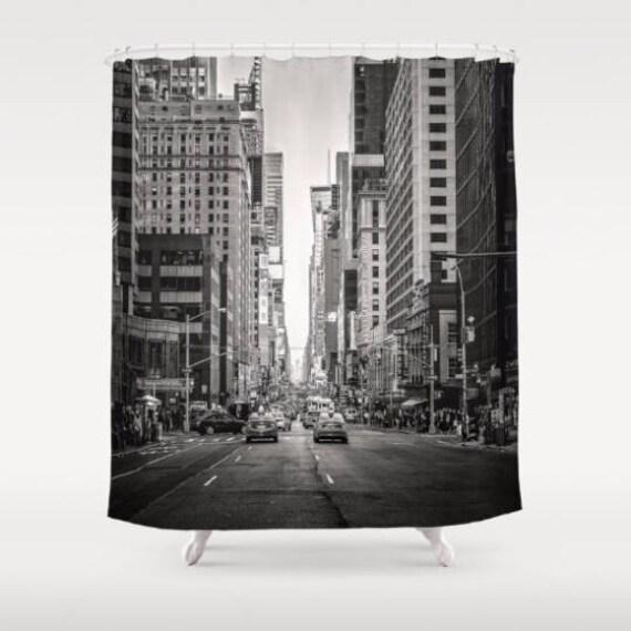 New York City Shower Curtain Nyc Bath Decor
