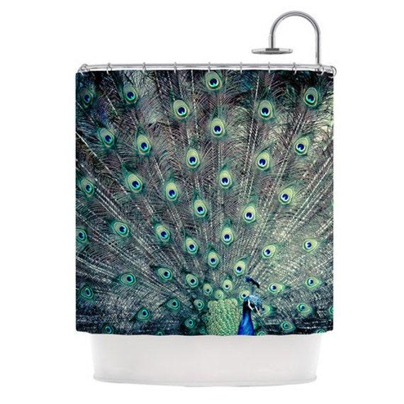 Peacock Shower Curtain Bath Decor Boho
