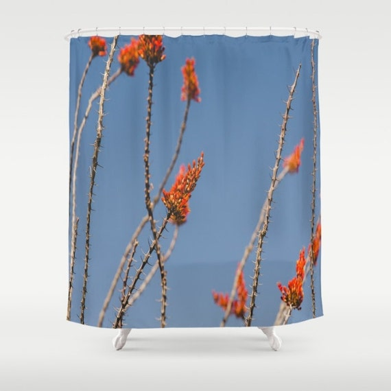 Southwestern Decor Shower Curtain Ocotillo Desert