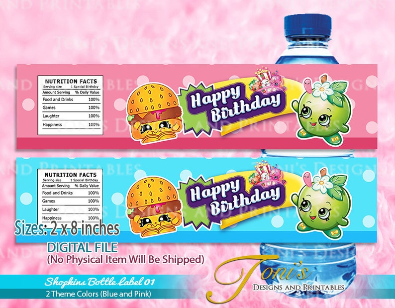 photograph relating to Free Printable Shopkins Food Labels titled SHOPKINS H2o Bottle Labels, Shopkins Printable Labels, Electronic Obtain, Shopkins Birthday, Shopkins Concept Bash, Printable Shopkins