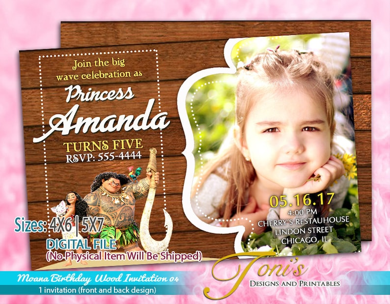 photo relating to Free Printable Moana Invitations identify MOANA Invitation, Moana Birthday Invitation Picket Concept, Moana Wooden Topic, Image Invitation, Moana Topic, Moana Printable, Moana Totally free Edit 04