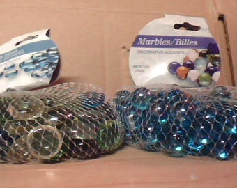 marbres/billies verre disque/billies uniques d'artisanat pour les jardinières etc.