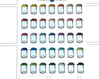 canning planner Sticker | Planner Sticker, farmers market sticker, food planner sticker, canned goods sticker, jam planning sticker
