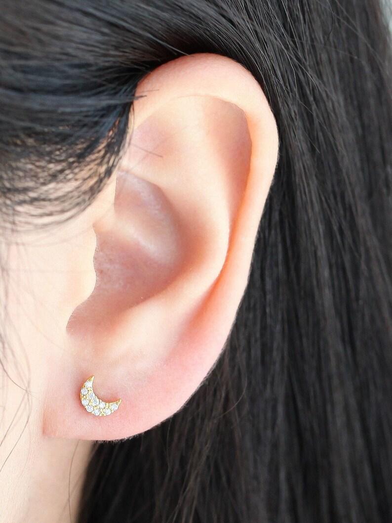 Tragus Cartilage Helix Bar Moon /& stars Ear Stud 6mm x 1.2mm